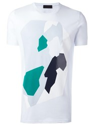 Diesel Black Gold Abstract Print T Shirt White