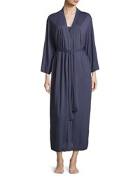 Natori Shangri La Jersey Robe Plus Size Medium Blue