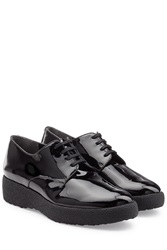 Robert Clergerie Patent Leather Oxfords Black