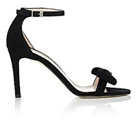 Barneys New York Women's Bow Embellished Ankle Strap Sandals Black Blue Black Blue