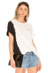Hudson Jeans X Baja East Knotted Tee Black And White