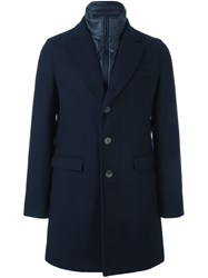 Herno Padded Funnel Neck Coat Blue