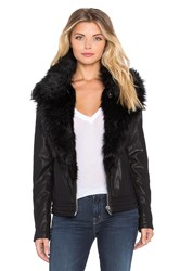 Blank Nyc Jacket With Faux Fur Collar Black