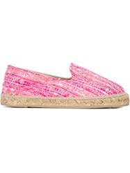 Manebi Manebi Woven Espadrilles Pink And Purple