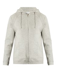Hamilton And Hare Zip Through Hooded Cotton Blend Sweatshirt Grey