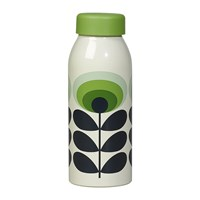 Orla Kiely Insulated Water Bottle 500Ml 70S Green Flower Oval