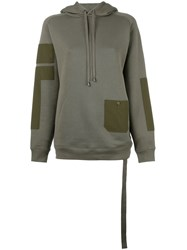 Helmut Lang Patch Pocket Hoodie Green