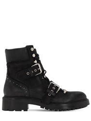 Strategia 40Mm Leather Hiking Boots Black