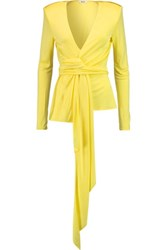 Issa Namara Satin Jersey Top Bright Yellow