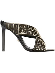 Versace Studded Mules Black
