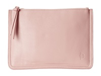 Mighty Purse Vegan Leather Charging Clutch Two Tone Soft Pink Purple Clutch Handbags