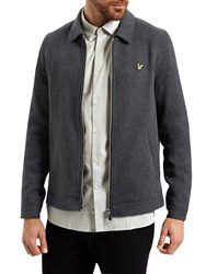 Lyle And Scott Zip Through Collar Jacket Charcoal Marl