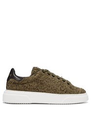 By Walid 19Th Century Panelled Low Top Trainers Khaki