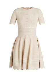 Alexander Mcqueen Lace Jacquard Jersey Dress Ivory