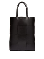 Bottega Veneta Oversized Intrecciato Leather Tote Bag Black