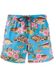 Entre Amis Fish Swimming Trunks Blue