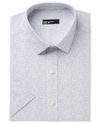 Bar Iii Men's Slim Fit Stretch Easy Care Short Sleeve Dress Shirt Only At Macy's Navy