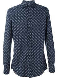 Dolce And Gabbana Flower Print Shirt Blue