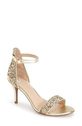 Women's Bp. 'Luminate' Open Toe Dress Sandal Gold Chunky Glitter