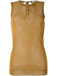 Nina Ricci Sheer Tank Top Brown