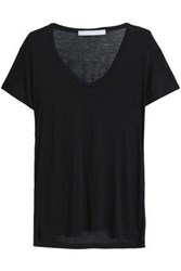 Kain Label Slub Modal And Silk Blend Jersey T Shirt Black