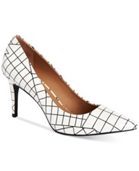 Calvin Klein Women's Gayle Pointed Toe Pumps Women's Shoes Black White
