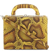 Bertoni 1949 Python Mini Shoulder Bag Leopard