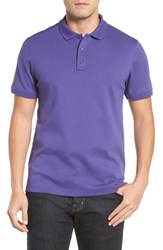 Nordstrom Men's Big And Tall Men's Shop Regular Fit Interlock Knit Polo Purple Wisteria