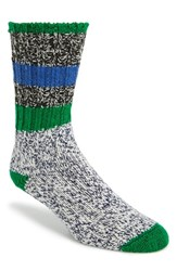Men's Woolrich 'Rugby Stripe' Merino Wool Blend Socks