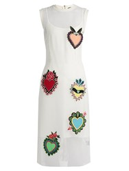 House Of Holland Heart Applique Mesh Dress White