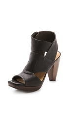 Coclico Fabianna Cone Heel Sandals Black Coffee