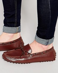 Bellfield Driving Loafers In Brown Leather Brown
