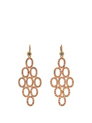 Maurizio Pintaldi Diamond Ruby Sapphire And Rose Gold Earrings