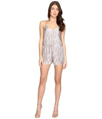 Brigitte Bailey Evangeline Overlay Romper Champagne Women's Jumpsuit And Rompers One Piece Gold