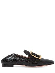 Bally 10Mm Janelle Embossed Leather Loafers Black