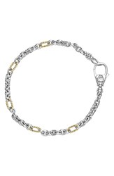 Women's Lagos 'Link' Mixed Link Two Tone Bracelet