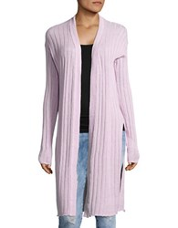 Free People Ribbed Duster Cardigan Lavender