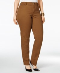 Styleandco. Style Co. Plus Size Tummy Control Slim Leg Jeans Only At Macy's Tobacco