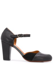 Chie Mihara 80Mm Contrasting Panel Pumps Black