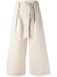 Etoile Isabel Marant Cropped Trousers Nude Neutrals