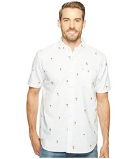 True Grit Island Time One Pocket Short Sleeve Shirt White Men's Short Sleeve Button Up