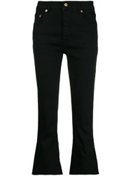 Department 5 Cropped Flared Jeans Black