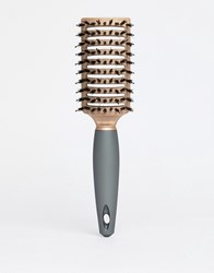 New Look Gloss Vent Hair Brush Rose Gold Clear