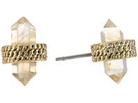 Vince Camuto Stud Earrings Worn Gold Citrine Glass Earring