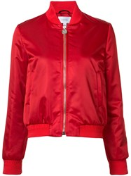 Carven Zipped Bomber Jacket Red