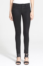 Joie Skinny Jeans Coated Black