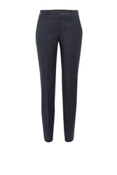 Hugo Virgin Wool Pants Blue