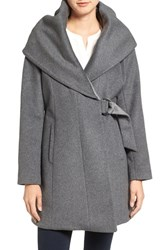 French Connection Women's Wool Blend Wrap Coat