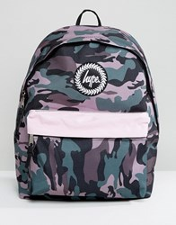 Hype Camo Print Backpack With Contrast Pocket Camo Multi