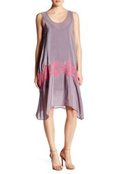 Plenty By Tracy Reese Embroidered Easy Sleeveless Dress Gray